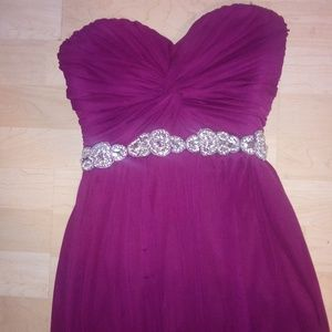 Long sleeveless prom dress